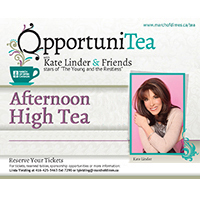 OpportuniTea Toronto with Kate Linder